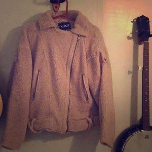 Woman's pink coat